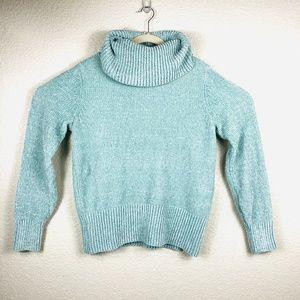 NWT LOFT Sage Green Cowlneck Sweater